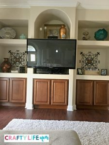 tv mantle makeover DIY